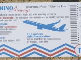 Airplane Boarding Pass Birthday Invitations Chandeliers Pendant Lights