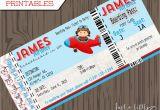 Airplane Boarding Pass Birthday Invitations Pilot Invitations Cards Diy Lil Pilots Airplane Birthday