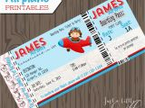 Airplane Boarding Pass Birthday Invitations Pilot Invitations Cards Diy Lil Pilots Airplane Birthday
