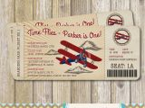 Airplane Boarding Pass Birthday Invitations Vintage Airplane Boarding Pass Birthday Invitation Vintage