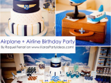 Airplane Decorations for Birthday Party Kara 39 S Party Ideas Airplane Airline Pilot themed Boy 1st