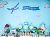 Airplane Decorations for Birthday Party Kara 39 S Party Ideas Airplane Birthday Party Planning Ideas