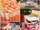 Airplane Decorations for Birthday Party Kara 39 S Party Ideas Airplane Party Ideas Planning Idea Cake