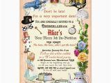 Alice and Wonderland Birthday Invitations Alice In Wonderland Birthday Party Invitation Zazzle Com