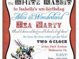 Alice and Wonderland Birthday Invitations Alice In Wonderland Invitation