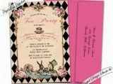 Alice and Wonderland Birthday Invitations Alice In Wonderland Invitation Printable Alice and Wonderland