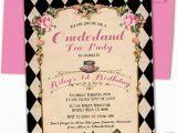 Alice In Onederland Birthday Invitations Alice In Onederland Birthday Invitation Alice 1st by