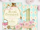 Alice In Onederland Birthday Invitations Alice In Wonderland Onederland Girl 39 S 1st Birthday Party