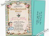 Alice In Wonderland 1st Birthday Invitations Alice In Wonderland First Birthday Invitation Onederland