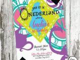 Alice In Wonderland 1st Birthday Invitations Alice In Wonderland Invitation Wonderland by