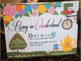 Alice In Wonderland 1st Birthday Invitations Alice In Wonderland Onederland Unbirthday Tea by