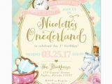 Alice In Wonderland 1st Birthday Invitations Best 25 Alice In Wonderland Invitations Ideas On