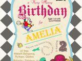 Alice In Wonderland Birthday Invites Alice In Wonderland Birthday Invitations Drevio
