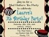 Alice In Wonderland Birthday Invites Alice In Wonderland Birthday Invitations Free Invitation