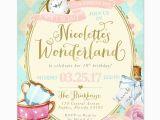 Alice In Wonderland Birthday Invites Alice In Wonderland Birthday Party Invitation Girls