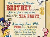 Alice In Wonderland Birthday Invites Alice In Wonderland Custom Birthday Invitation Digital