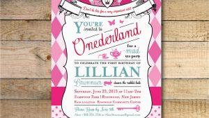Alice In Wonderland Birthday Invites Alice In Wonderland Invitation 1st Birthday Party