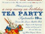 Alice In Wonderland Birthday Invites Alice In Wonderland Un Birthday Tea Party Invitations Digital