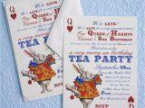 Alice In Wonderland Birthday Invites Alice In Wonderland Un Birthday Tea Party Invitations Thank