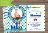 All Aboard Birthday Invitation All Aboard First Birthday Party Invitation by