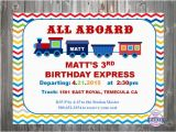 All Aboard Birthday Invitation All Aboard Personalized Party Invitation Choo Choo Train