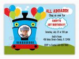 All Aboard Birthday Invitation All Aboard Train Birthday Invitation with Picture or without