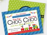 All Aboard Birthday Invitation Choo Choo Invitation Train Birthday All Aboard Invite