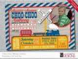 All Aboard Birthday Invitation Train Birthday Invitation All Aboard Choo Choo Custom