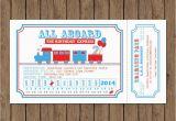 All Aboard Birthday Invitation Train Ticket Invitation Birthday All Aboard Printable