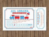All Aboard Birthday Invitation Train Ticket Invitation Birthday All Aboard Printable