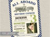 All Aboard Birthday Invitation Vintage Train Birthday Party Invitation All Aboard Train