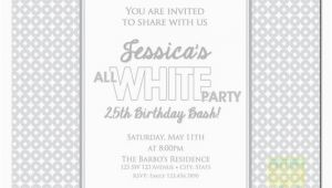 All White Birthday Party Invitations All White Party Invitation White Party Invitation Summer