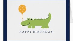 Alligator Birthday Card Cute Alligator Birthday Card Zazzle