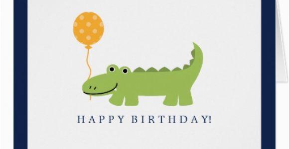Alligator Birthday Card Cute Alligator Birthday Card Zazzle