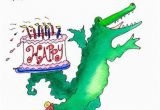 Alligator Birthday Card Items Similar to Birthday Card Crocodile On Wheels Gift