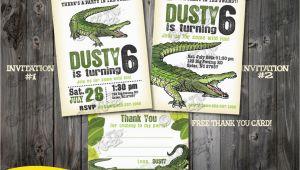 Alligator Birthday Invitations Alligator Party Invitation Alligator Birthday Party Invite