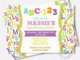 Alphabet Birthday Invitations 17 Best Ideas About Alphabet Birthday Parties On Pinterest