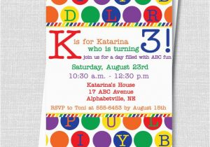 Alphabet Birthday Invitations 17 Best Ideas About Alphabet Party On Pinterest Abc