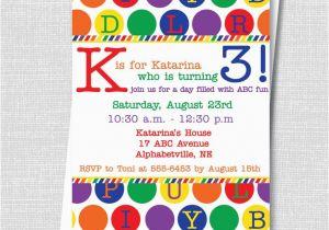 Alphabet Birthday Invitations 17 Best Ideas About Alphabet Party On Pinterest Abc
