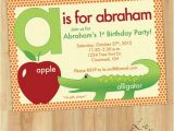 Alphabet Birthday Invitations 7 Best Images About Alphabet Birthday On Pinterest the