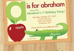 Alphabet Birthday Invitations 7 Best Images About Alphabet Birthday On Pinterest the