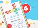 Alphabet Birthday Invitations Abcs 123s Party Invitations Birthday Parties