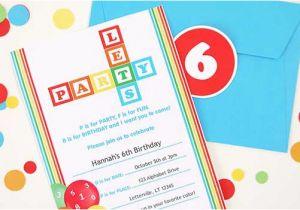 Alphabet Birthday Invitations Abcs 123s Party Invitations Birthday Parties