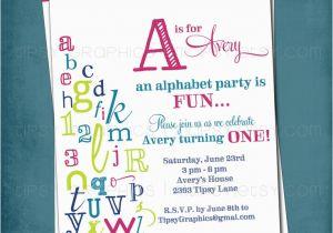 Alphabet Birthday Invitations Baby Shower Invites 10 Handpicked Ideas to Discover In
