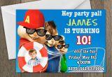 Alvin and the Chipmunks Birthday Invitations Birthday Invitation Templates Alvin and the Chipmunks