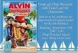 Alvin and the Chipmunks Birthday Invitations Unique Ideas for Alvin and the Chipmunks Birthday