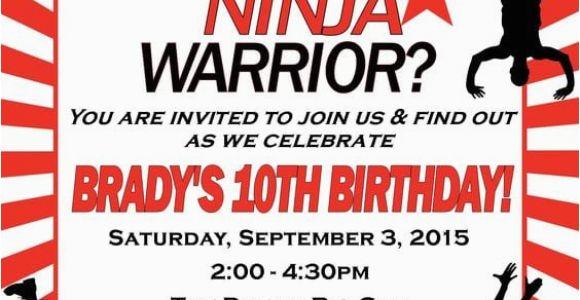 American Ninja Warrior Birthday Party Invitations 17 American Ninja Warrior Party Ideas for Any Age