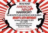 American Ninja Warrior Birthday Party Invitations American Ninja Warrior Invitation Sweetdesignsbyregan