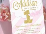 Angel themed Birthday Party Invitations Angel Party Invitation Little Angel Birthday Invitation