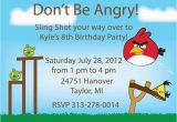 Angry Birds Birthday Party Invitations Angry Bird Birthday Invitation Quot Printable Quot Logan 39 S 5th